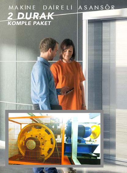 2 Durak Makine Daireli Asansör